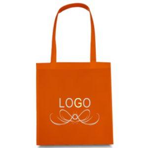 borse in tnt arancio personalizzato